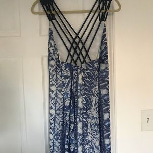 Blue and white maxi dress (brand new/never worn)